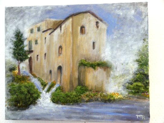 The Mill. Medium: Akryl