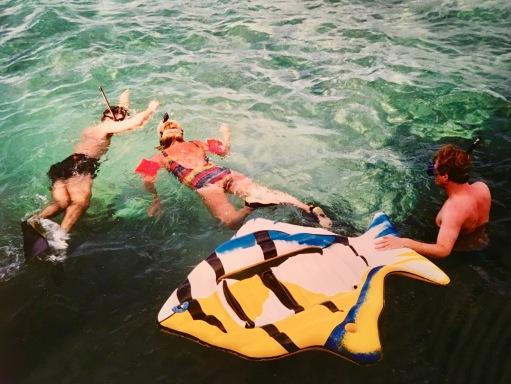 På snorkeltur med grabbarna